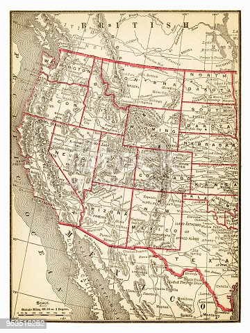 New Pocket Atlas  / Rand, McNally & Co -1893