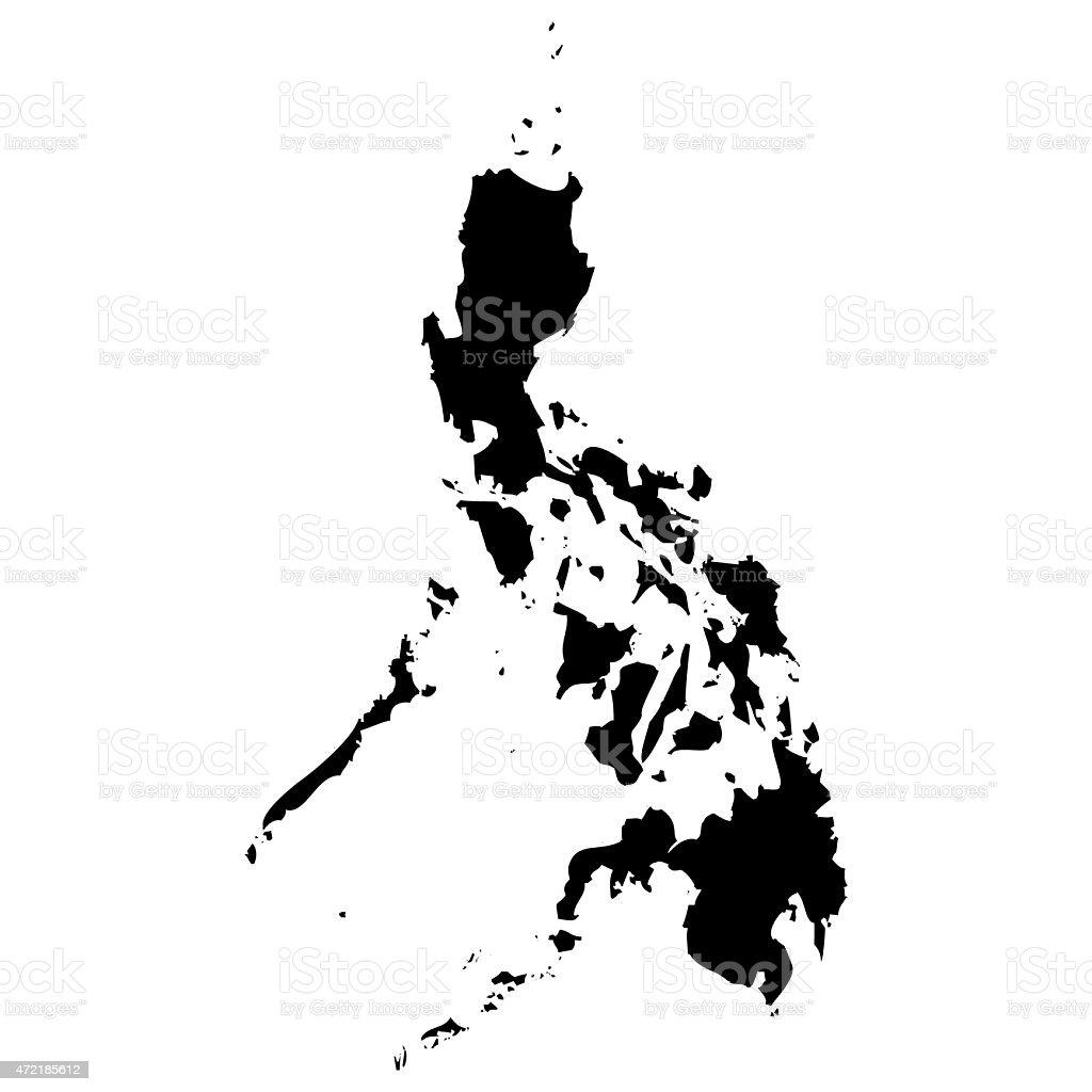Map Philippines vector art illustration