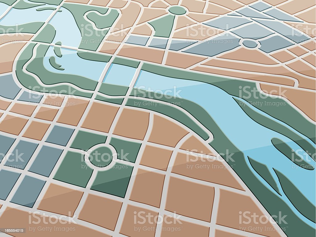 Map River City royalty-free map river city stock vector art & more images of aerial view