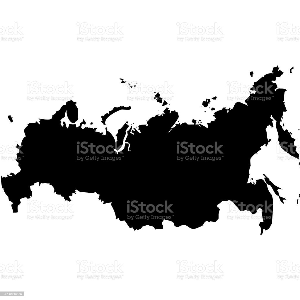 Map Russia vector art illustration