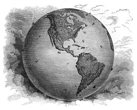 Map Western Hemisphere1881