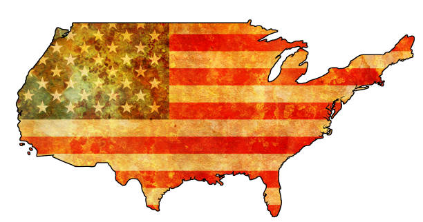 map with flag of usa - white house stock illustrations