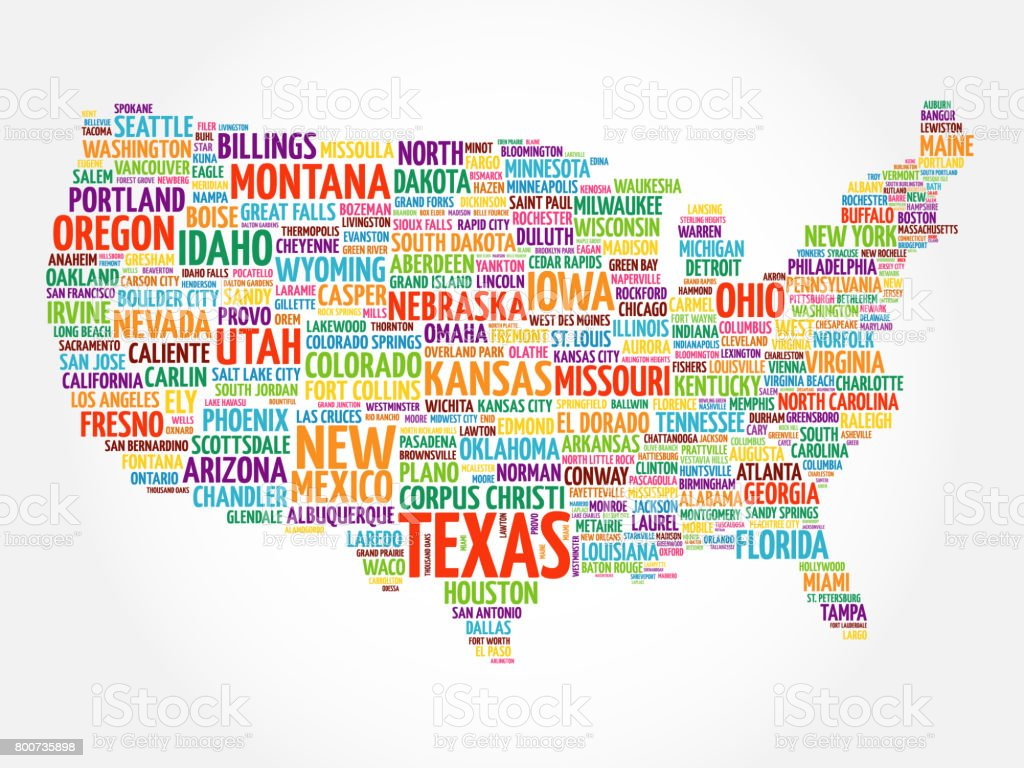 Usa map word cloud collage stock vector art more images of usa map word cloud collage royalty free usa map word cloud collage stock vector art gumiabroncs Choice Image