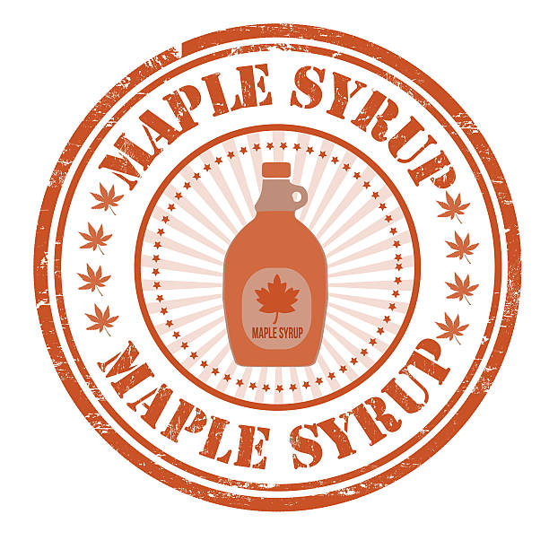 Maple syrup stamp Maple syrup grunge rubber stamp on white maple syrup stock illustrations