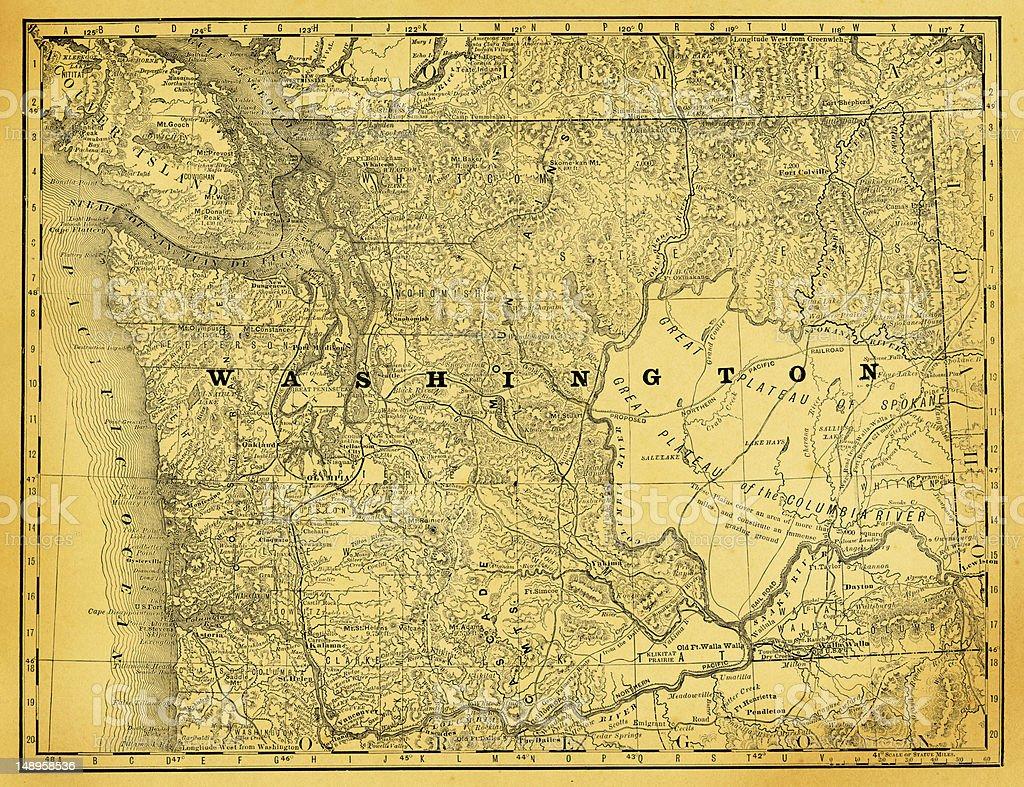 USA Maps and Illustrations I State of Washington vector art illustration
