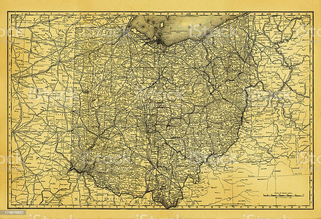 USA Maps and Illustrations | State of Ohio vector art illustration