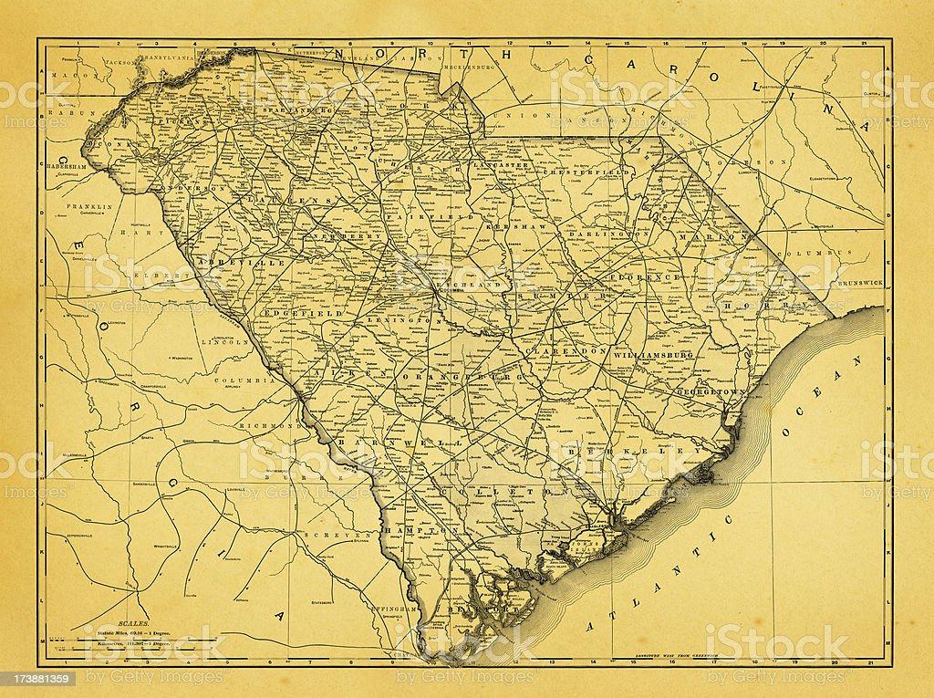 USA Maps and Illustrations | State of South Carolina vector art illustration