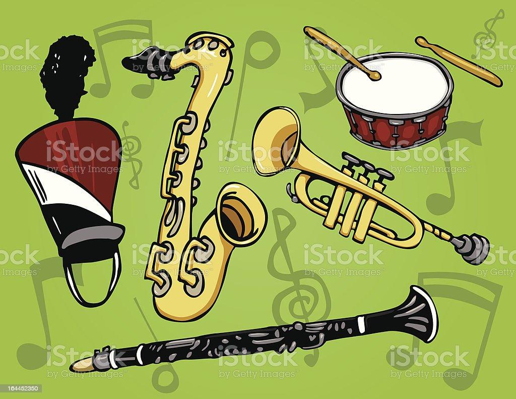 Blaskapelle Instrumente – Vektorgrafik