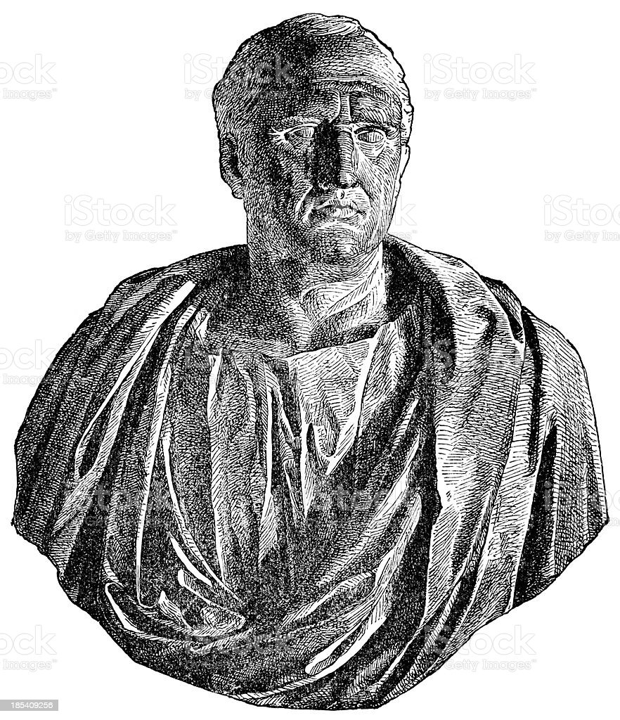 Marcus Tullius Cicero royalty-free stock vector art