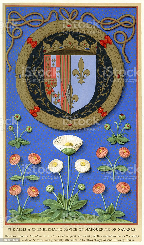 Margaret of Navarre royalty-free stock vector art