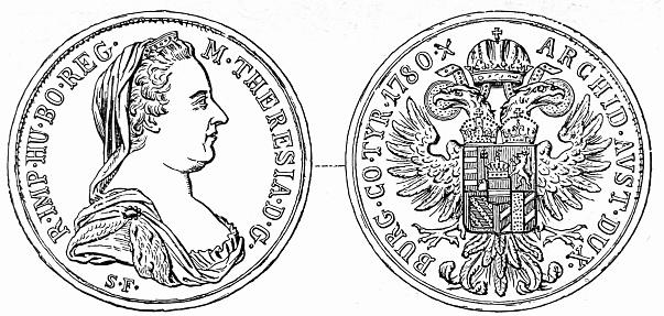 Maria Theresa Thaler, coin, Austria
