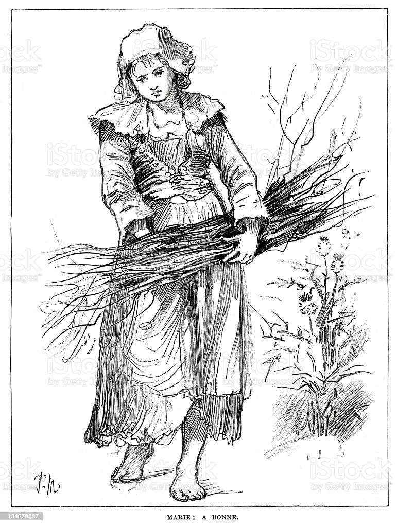 Marie A Bonne vector art illustration