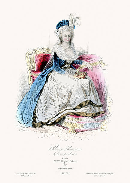 stockillustraties, clipart, cartoons en iconen met marie antoinette - 18e eeuw