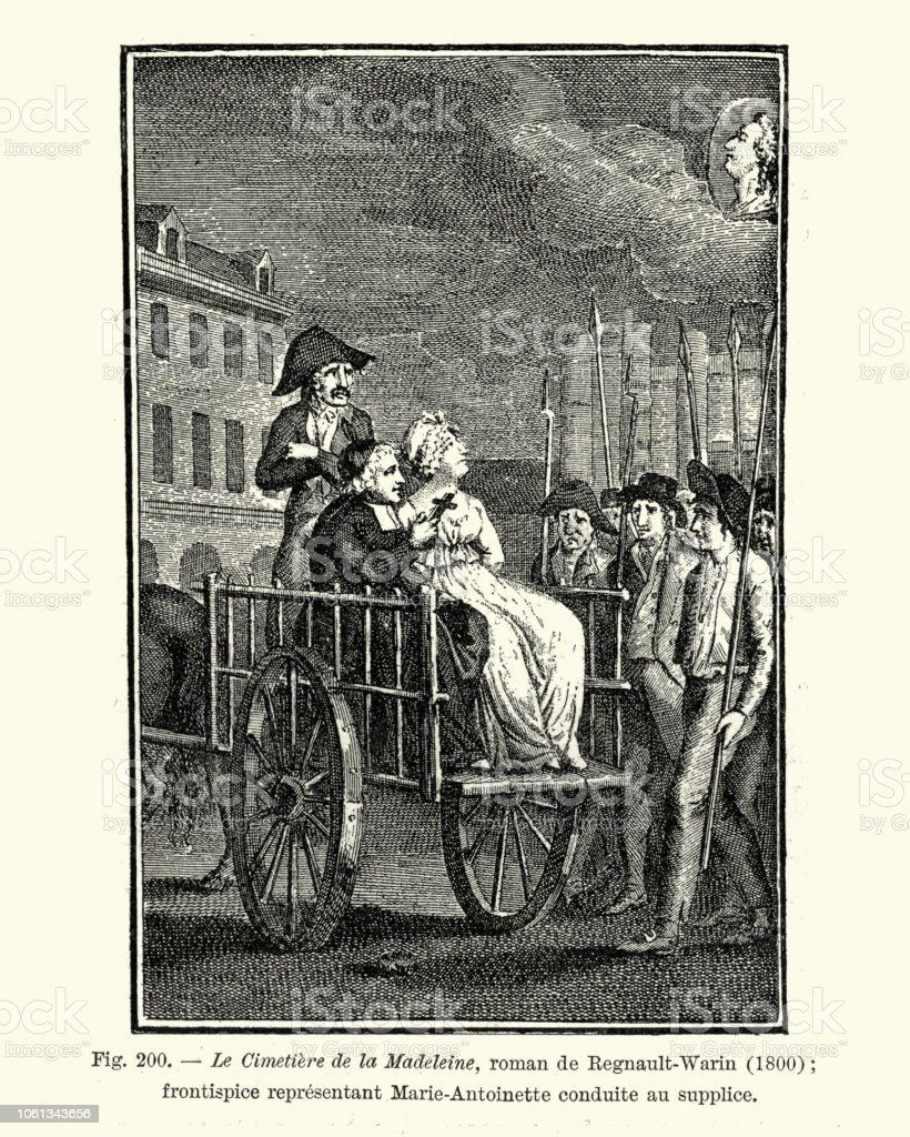 Image result for woman being taken to guillotine in a cart