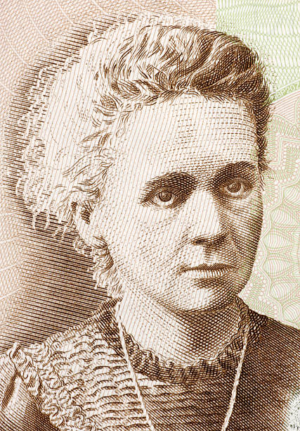 Marie Curie Marie Curie (1867-1934) on 20 Zlotych 2011 Banknote from Poland. French-Polish physicist and chemist famous for her pioneering research on radioactivity. Less than 30% of the banknote is visible. name of person stock illustrations
