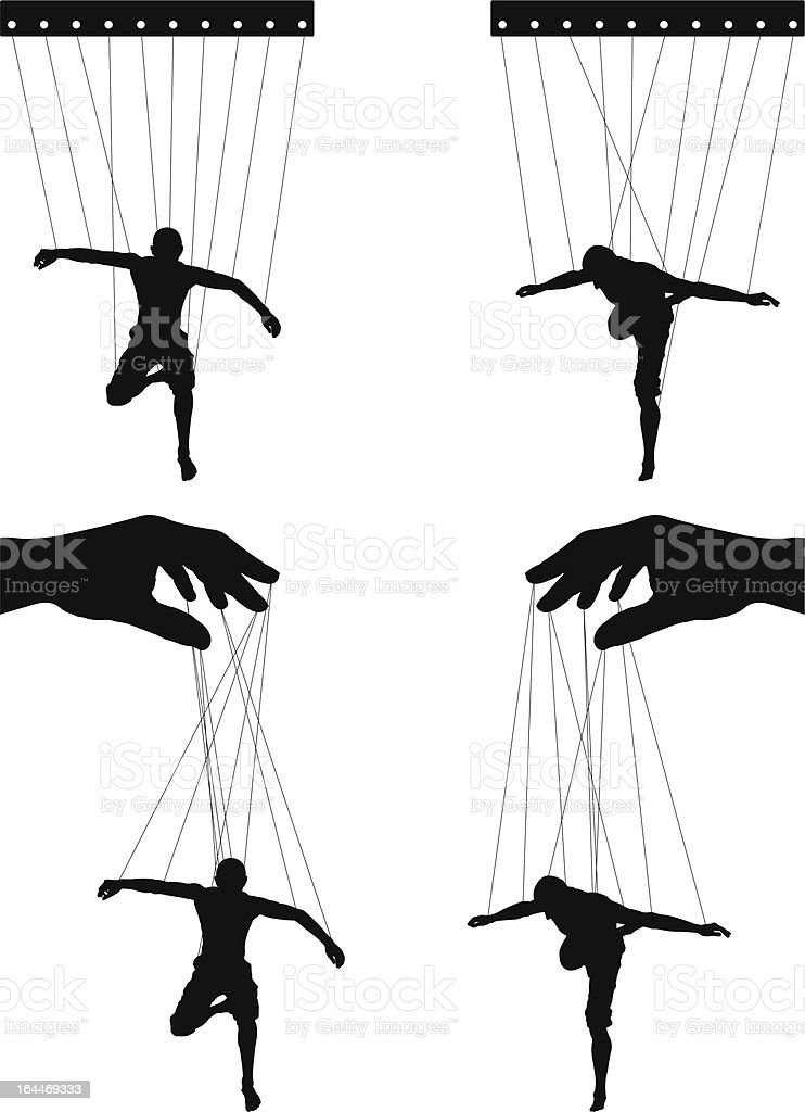 marionettes. fourth variant vector art illustration