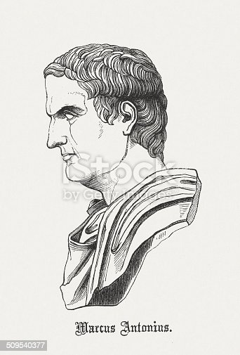 istock Mark Antony (c.83-30 BC), Roman politician and commander, published 1864 509540377