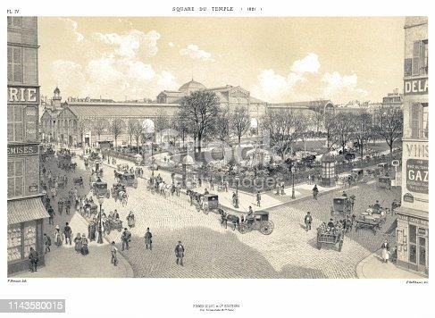 Paris, evolution of places thru the time