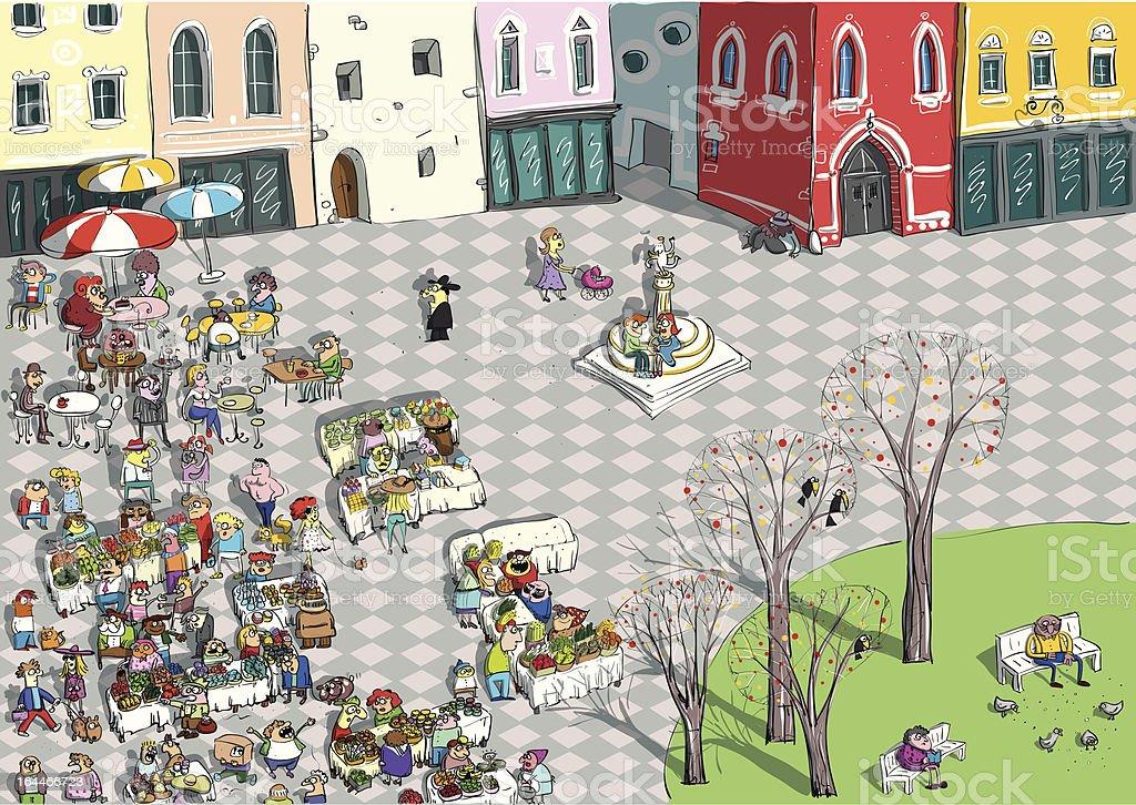 Market Place – Vektorgrafik