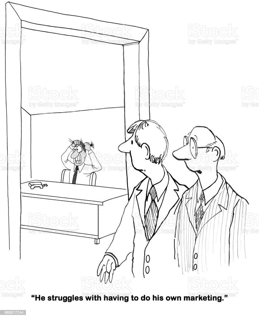 Marketing and Sales - ilustração de arte em vetor