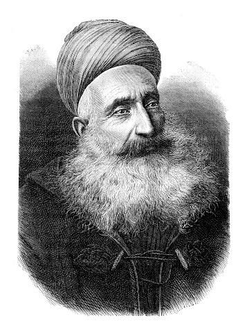 Maronite priest portrait in Lebanon 1889