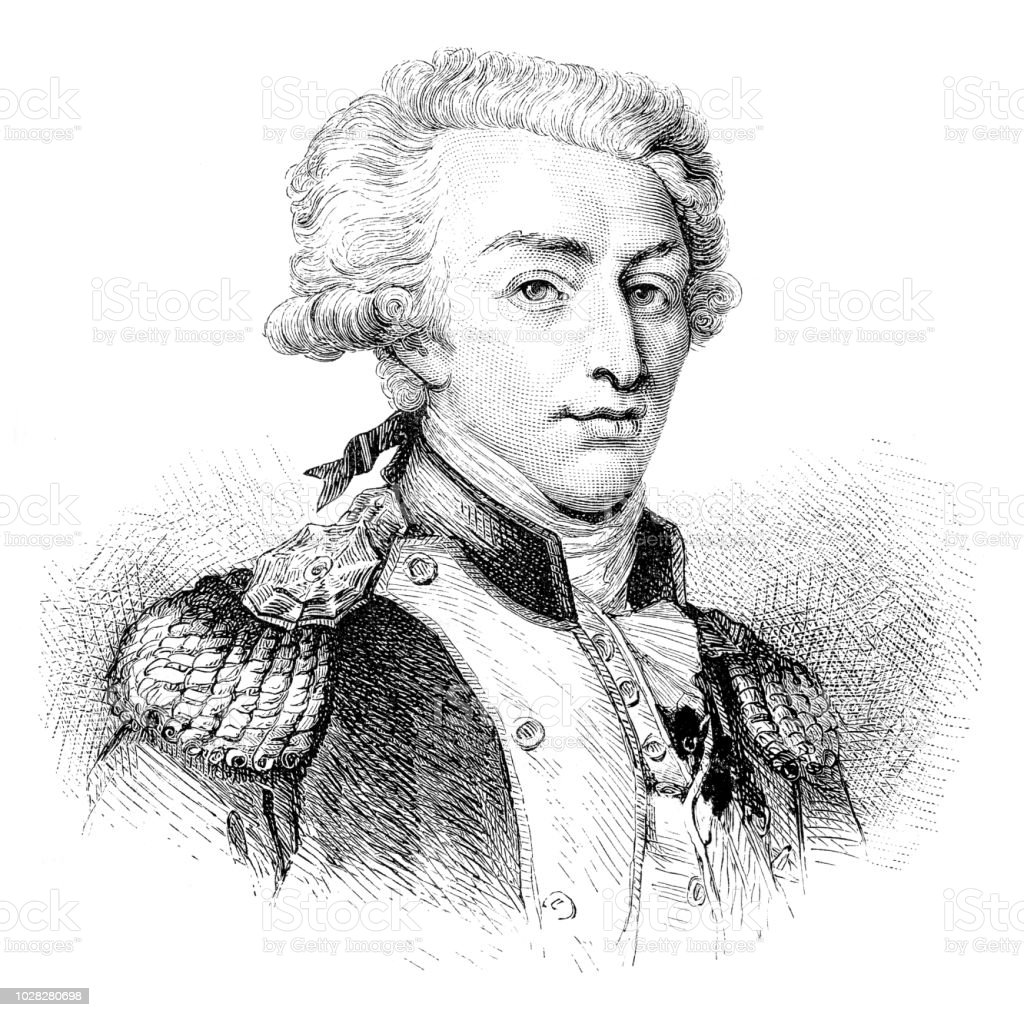 Illustration de portrait de marquis de la Fayette - Illustration vectorielle