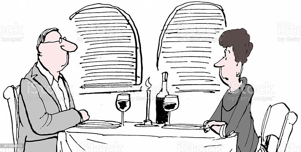Married Couple vector art illustration