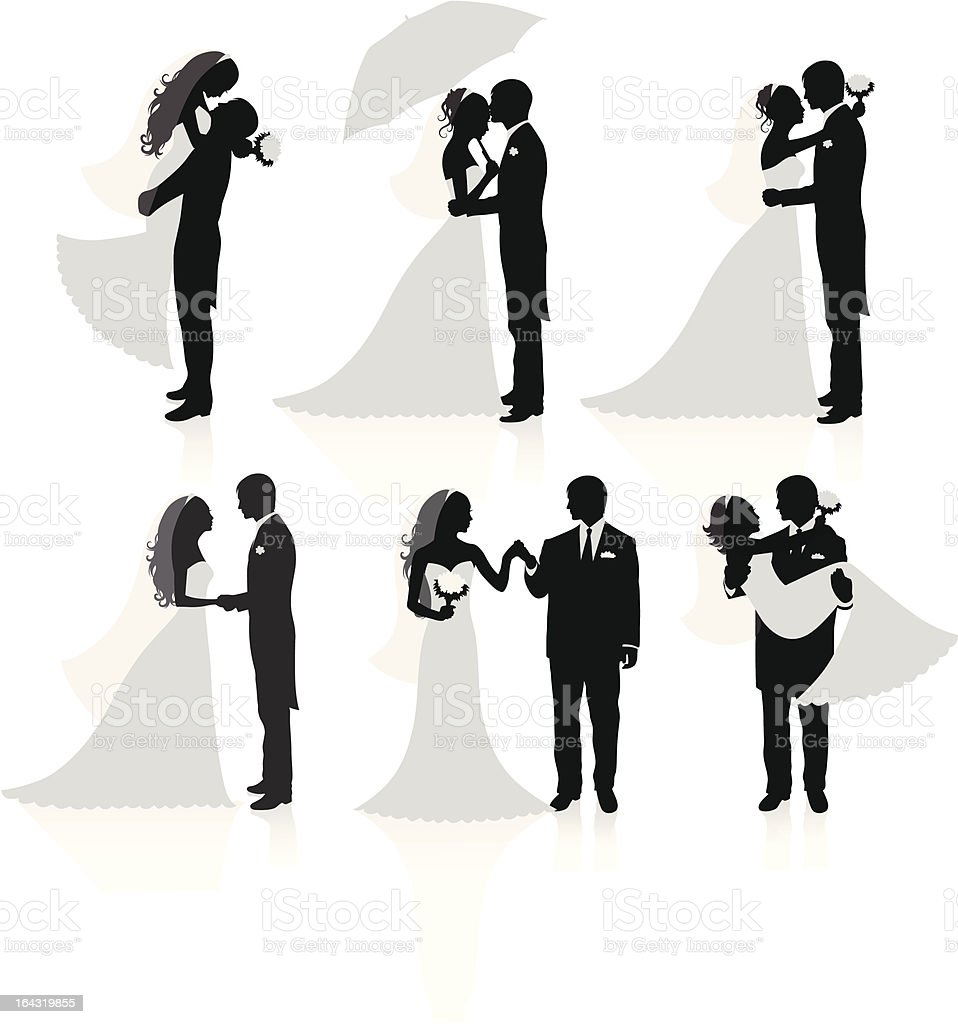 Married couples. vector art illustration