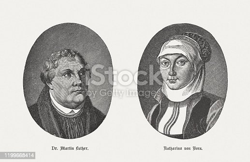 istock Martin Luther and his wife Katharina von Bora, published 1883 1199668414