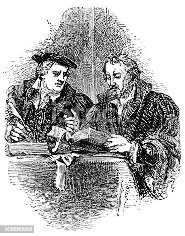istock Martin Luther and Philip Melancthon 508880558