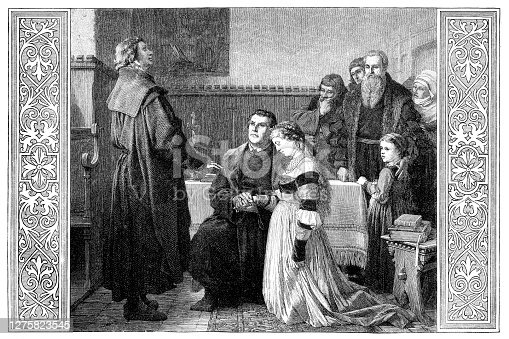 istock Martin Luther marriage with Katharina von Bora 1525 1275823545