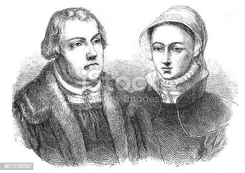 istock Martin Luther religious leader portrait with wife 801239262