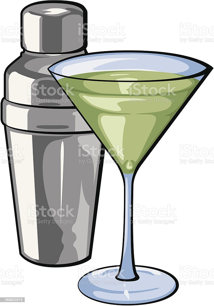 Martini and Shaker royalty-free martini and shaker stock vector art & more images of alcohol