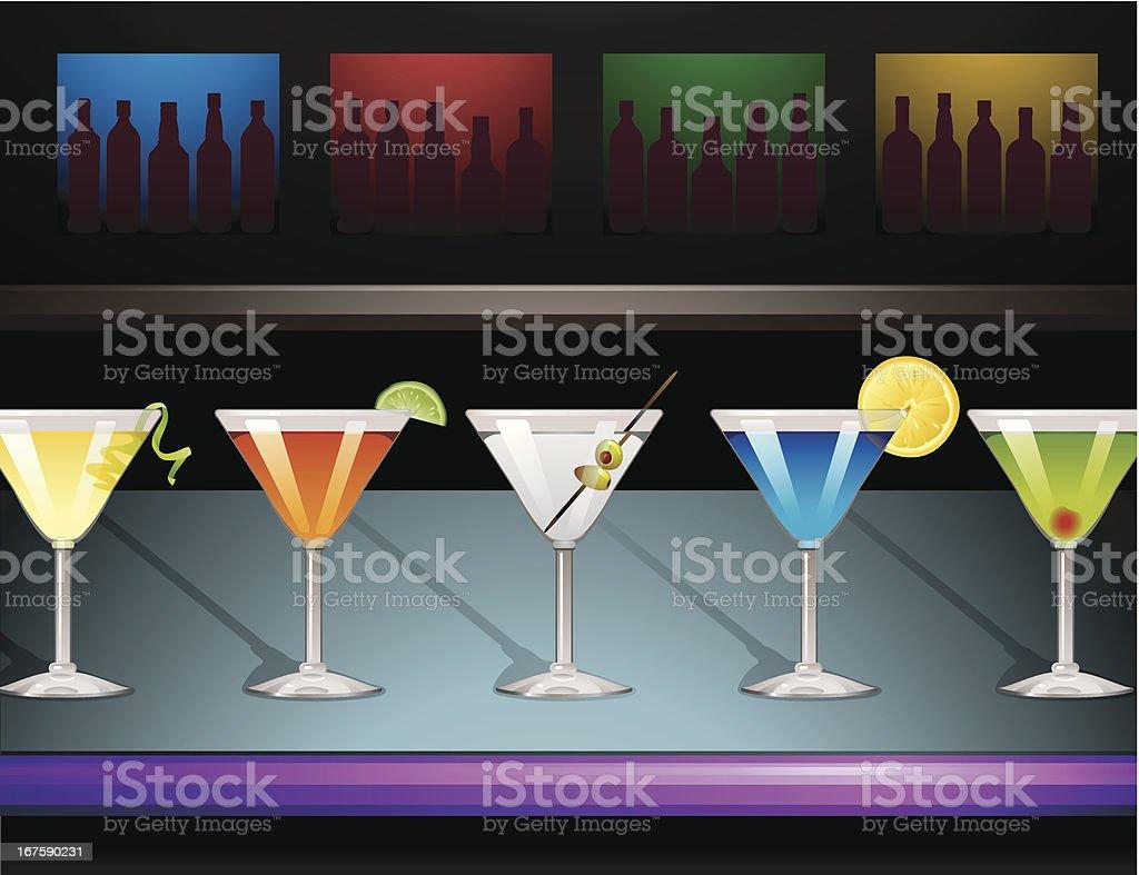 Martini Bar vector art illustration