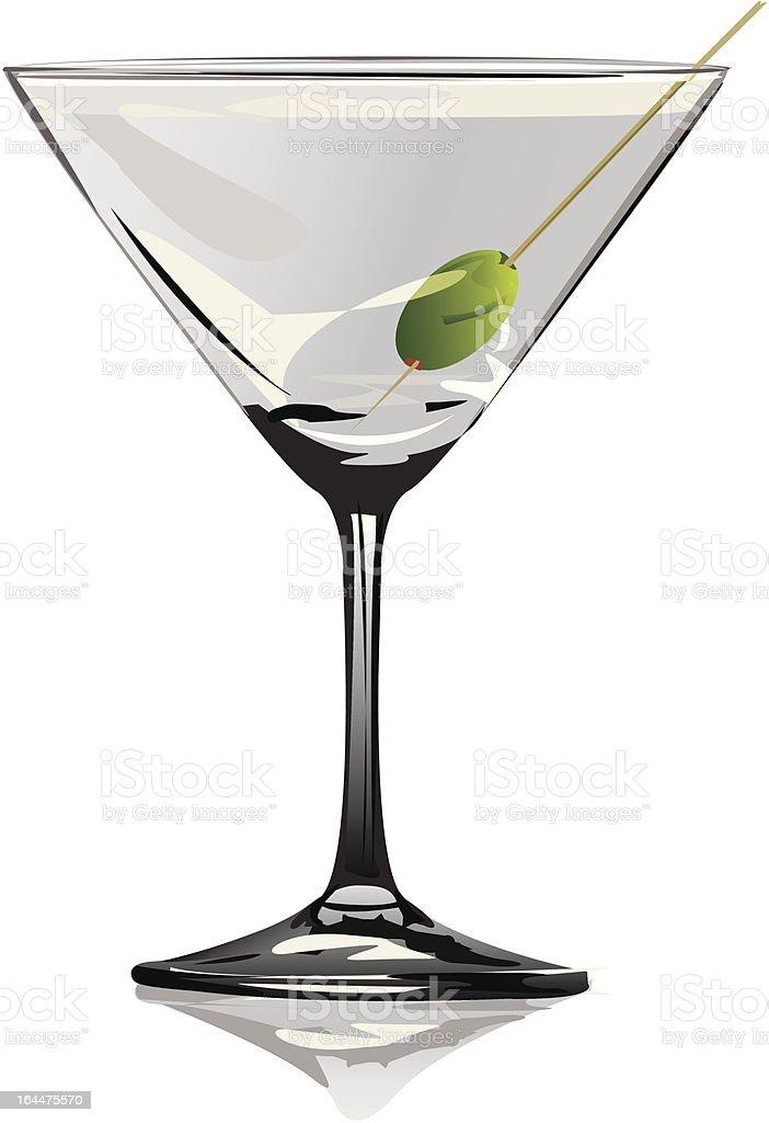 Martini Glass royalty-free stock vector art