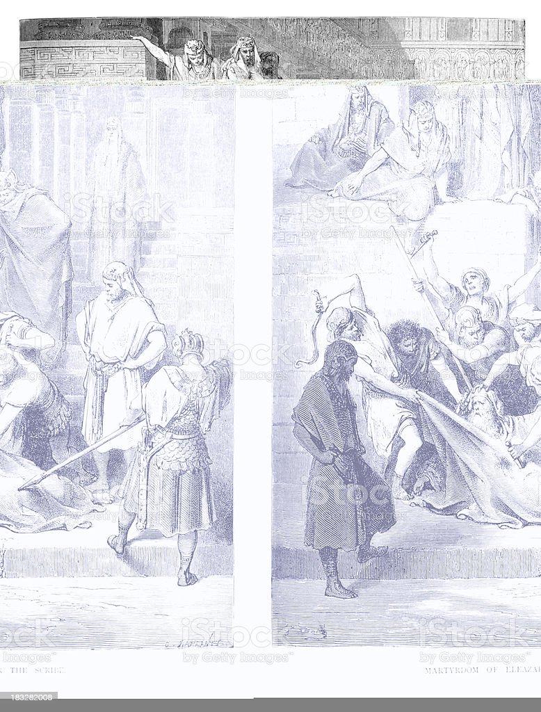 Martyrdom of Eleazar the Scribe vector art illustration