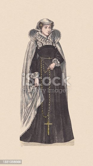 istock Mary, Queen of Scots (1542-1587), hand-colored wood engraving, published c.1880 1331058566