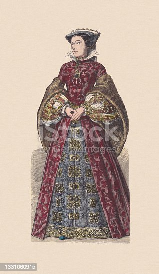 istock Mary, Queen of Scots (1542-1587), hand-colored wood engraving, published c.1880 1331060915