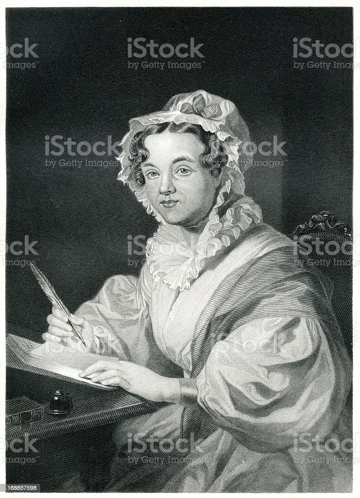 Mary Russell Mitford royalty-free mary russell mitford stock vector art & more images of 1873