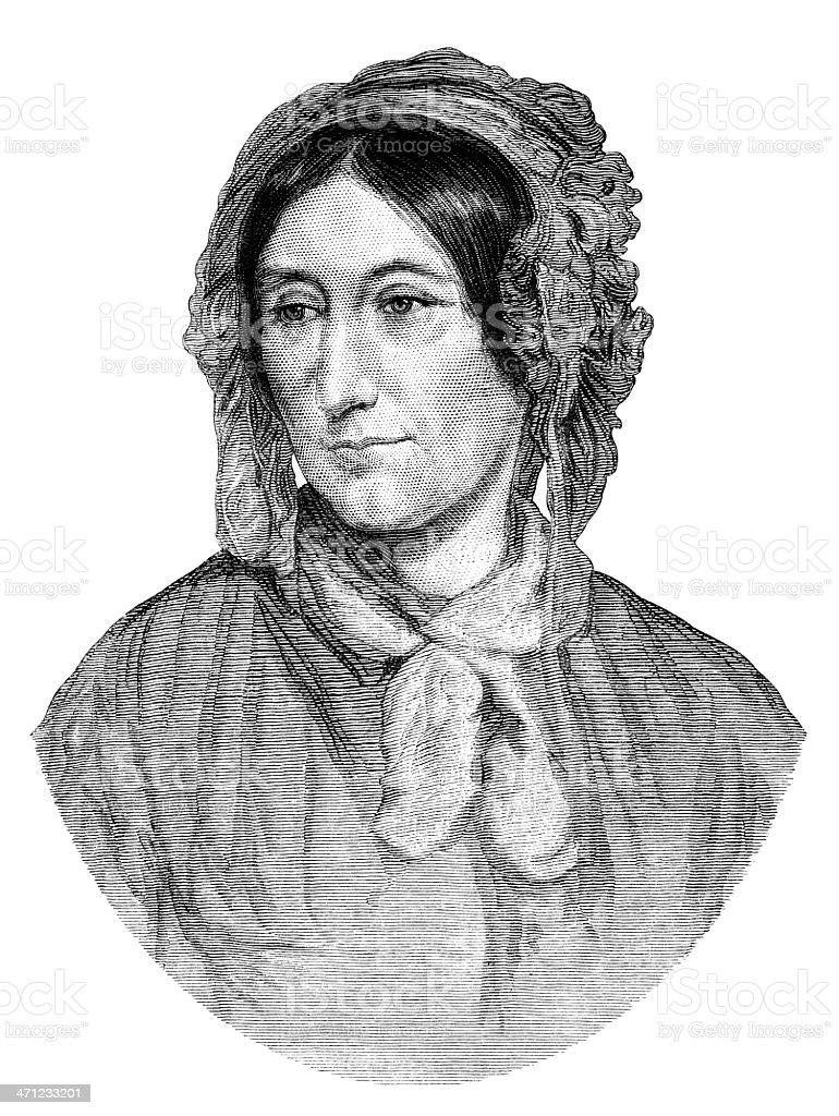 Mary Somerville, mathématicien (1875 illustration - Illustration vectorielle