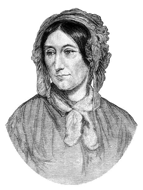 stockillustraties, clipart, cartoons en iconen met mary somerville, mathematician (1875 illustration) - somerville massachusetts