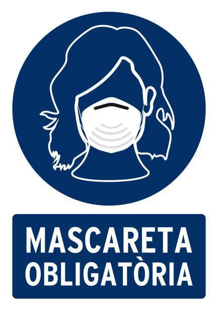 obligatorische maske - ffp2 maske stock-grafiken, -clipart, -cartoons und -symbole