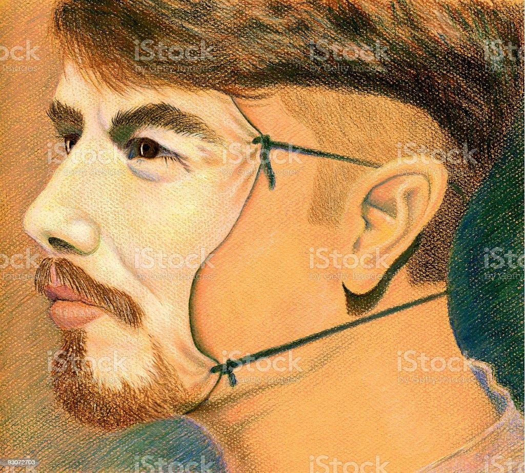 Mask - Hidden Feelings royalty-free mask hidden feelings stock vector art & more images of artificial