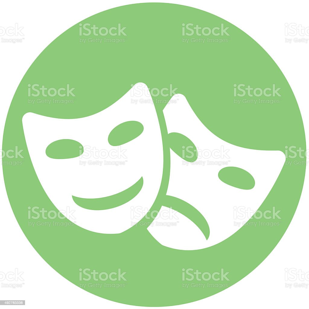 masks icon vector art illustration