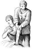 Massage of a shoulder