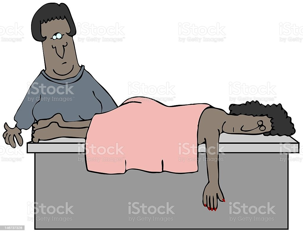 Masseuse royalty-free stock vector art