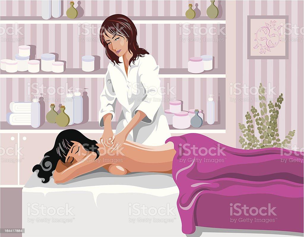 masseuse royalty-free stock vector art