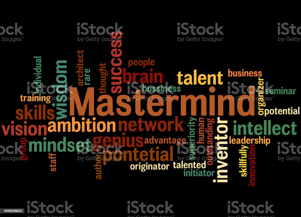 Mastermind Word Cloud Concept Stock Illustration - Download Image Now