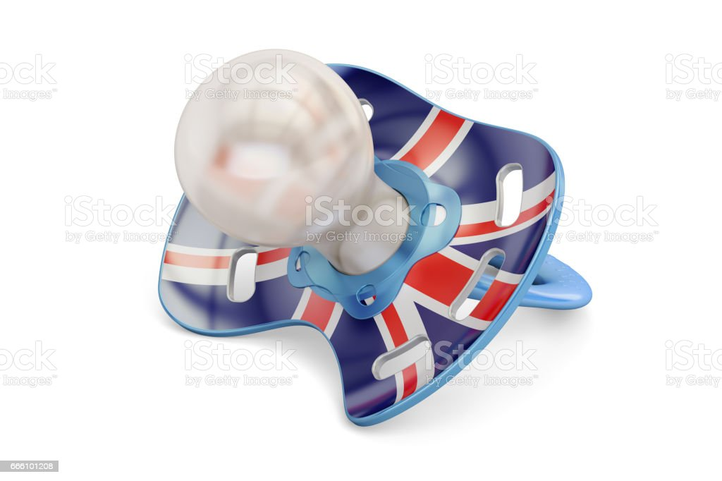 UK Maternity and birthrate in Great Britain concept, 3D rendering isolated on white background vector art illustration