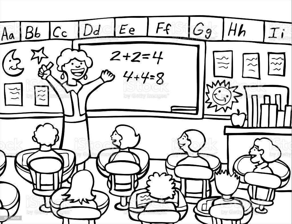 Math Teacher Stock Vector Art & More Images of Adult 92738335 | iStock